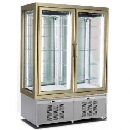 CLASS 132.2.4.2M.RE-I - EXPOSITOR VERTICAL DE REFRIGERACION ESTATICA DE DOBLE CUERPO
