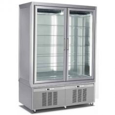 CLASS 132.2.1.2M.RE - EXPOSITOR VERTICAL DE REFRIGERACION ESTATICA DE DOBLE CUERPO
