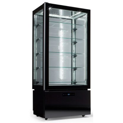 LUXURY RV BLACK - EXPOSITOR VERTICAL LUXURY DE REFRIGERACION VENTILADA, ANCHO 60cm