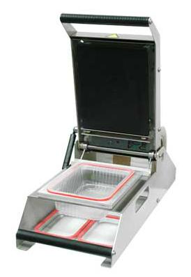 TSB150 - TERMOSELLADORA DE BANDEJAS Termoselladora eléctrica para envasado de alimentos en barquetas, con sellado mediante soldadura de film por calor.
