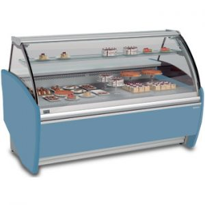 V.H.MODULAR C14 - VITRINA DE HELADOS MODULAR 14 SABORES CON CRISTAL CURVADO Vitrina para el mantenimiento y exposición de helado durante su venta.