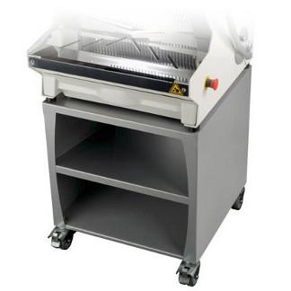 PICO 450 BASE GRIS - Base con ruedas y estantes para Cortadora-rebanadora de pan de JAC MACHINES